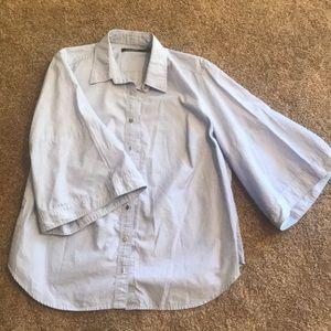 Chambray Ralph Lauren Bell Sleeve Blouse